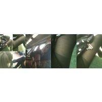 【長編動画】黒スト美脚を横から2・・・