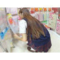 髪の長い女子校生のあそこは・・・