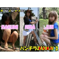 The movie of 3 girl's beautiful legs and upskirt, NARUMI,RINA,JU