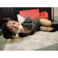 AD1 Nanako Bound & Gagged in Leather Suit Part1