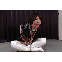 着衣拘束&猿轡フェチ動画 [YO7 緊縛ヒロイン 囚われのクノイチ 洋子 Part2]