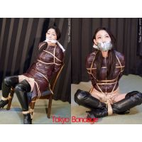 [Photo Set MDP2]Beautiful MILF Madoka Tied & Gagged in Leather S