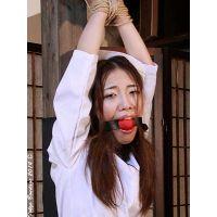 着衣拘束&猿轡フェチ動画 [AM18 熟女緊縛 ナースあすみ猿轡地獄 Part1]