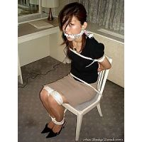 Japanese Bondage Damsels - SR1 Saori First Time Roped and Gagged