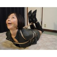 AD1-2 Nanako Bound & Gagged in Leather Suit FULL