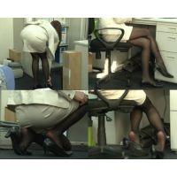 【OL黒ストパンプス脱ぎ動画】超エロい黒スト美脚は脚癖が悪い