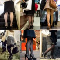 Hosed legs of a lady in Japan - 07