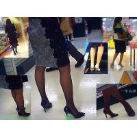 夕方のデパートの化粧品や雑貨コーナーは美脚なOLの宝庫で見放題1