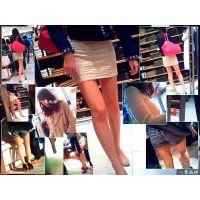 ショッピングモールを歩いていて見かけた美脚やお尻やおっぱいを観察