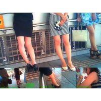 駅で美脚を追ってたらその先に女子大生集団が居たので撮ってみました