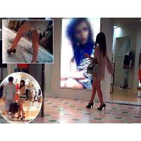 彼氏と買い物中の美し過ぎる脚線美おねーさんを追跡観察してみました