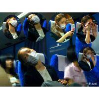 高速バスで寝落ちしていたほぼすっぴん美人の寝起きまでを観察した