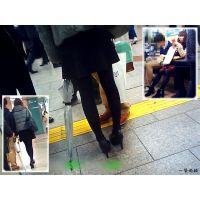 街で見かけた黒タイツのおねーさん2人を観察してみました
