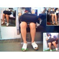 電車内で女子大生の健康的な生足とチラリズムを楽しんでみた