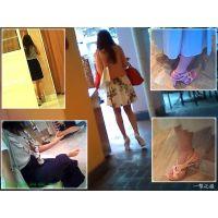 服屋で清楚系ファッションのおねーさんに近づいて美脚を観察する