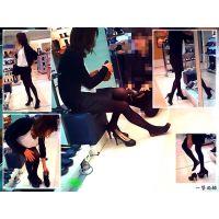 靴売場で美脚な人妻が試し履きしていたのでこっそり近寄って観察した