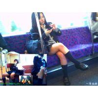 電車内の風景や車窓からの眺めを撮ってたらJさんに邪魔されて困った