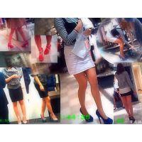 女性ファッションフロアを徘徊しながら見る美脚な店員やお客さんたち