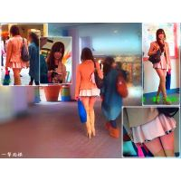 ショッピングモールで見かけた美脚ブーツの女子大生を追跡してみた