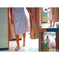 働く看護婦さんたちの蒸れ過ぎたパンストとナースシューズを観察