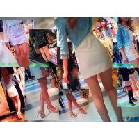 デパートの女性ファッションフロアの店員は美脚・美尻でエロ過ぎる