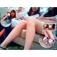約50cmの距離で見る女子○生2人組の新鮮生足はめっちゃ興奮する