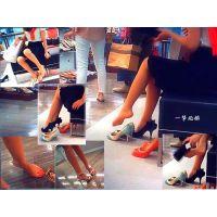靴屋で見かけたナチュスト美脚嬢の試し履きシーンを追いかけて観察