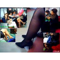 電車内でときどき見かけるパンスト伝線・靴脱ぎ・つま先シーン観察