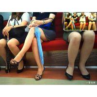 電車内でナチュスト穿いて座っている会社帰りOLおねーさんを観察