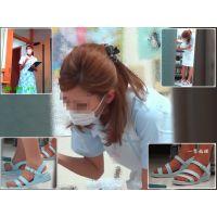 【男の夢シリーズ】診察室の隙間から可愛い看護婦さんをズームで覗く