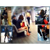 駅ホームや電車内で見かける美脚なおねーさんたちを追跡しながら観察