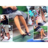 街や電車で見かけるOL・熟女の美しい生足とパンスト美脚を観察