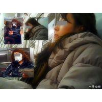 電車内でイキそうな顔して寝落ちしている人妻を2シーンまとめました