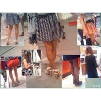 街でお買い物中のヤングなおねーさんたちのパンストや生足を観察する