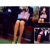 電車に乗ったら小柄だけどナチュストの美脚が綺麗だったので観察した