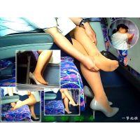 たまらないムラムラ感!バスの中で靴脱ぎするOLの足裏は超蒸れ蒸れ
