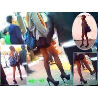 イベント広場でひと際美しい美脚を魅せつけて歩いていたおねーさん