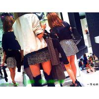 洋服屋で女友達が洋服選びに夢中な間に美脚な店員さんを撮ってみた6