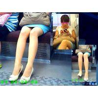 清楚系美人OLの脚線美と股間の薄暗い三角地帯が気になって観察した