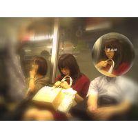 電車内で居眠りする表情が可愛い女子大生の一部始終を観察し続ける