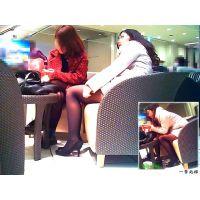 休憩イスでやたら2人の写真を撮りまくってた薄黒パンスト女子大生