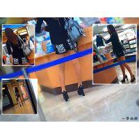 街の本屋に入ったら長身でショートパンツの美脚ギャルが居たので追跡
