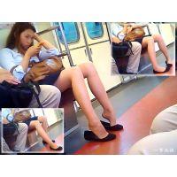 長身美脚OLの足を眺めていたら突然衝撃の靴パカポーズを目撃した!