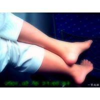 新幹線で隣に座っていたおねーさんが足元の荷物に足を乗せていて観察