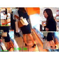 美脚なのに内股歩きが可愛い美人妻と食材買い物中に何度もすれ違った