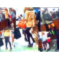 化粧品売り場を通ったら美脚ちゃんが靴脱ぎしていたのでそのまま観察