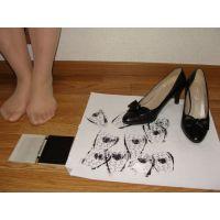 285パンプス画像 本革りぼんパンプス 靴底系