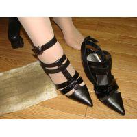 079サンダル画像 黒サンダル 靴底土足系