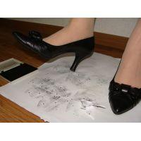 284パンプス画像 ダイアナの本革りぼんパンプス 靴底系