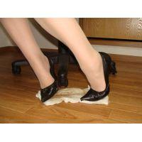 653パンプス画像 デザインパンプス 土足靴底系